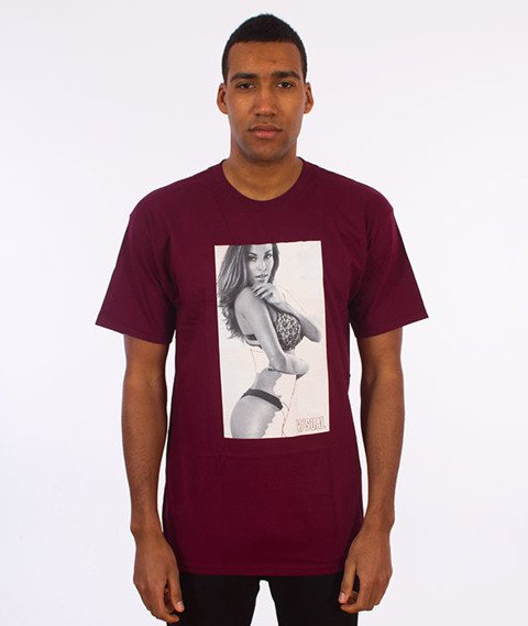 Visual-Erased T-Shirt Burgundy