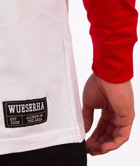 WSRH-Blood Longsleeve Biały/Czerwony