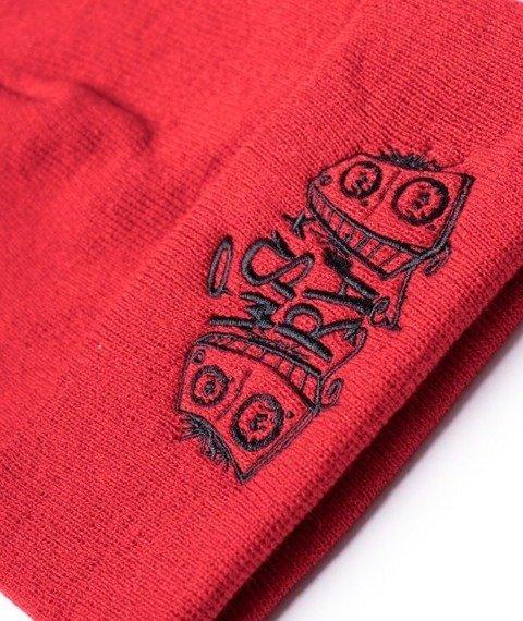 WSRH-Classic Logo Czapka Zimowa Wywijana Czerwona/Czarna