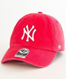 47 Brand-Clean Up New York Yankees Czapka z Daszkiem Koral