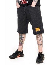 Brain Dead Familia-BDF Zombie Hunter Spodnie Krótkie Jeans Czarne