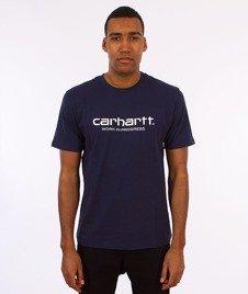 Carhartt WIP-WIP Script T-Shirt Blue/White