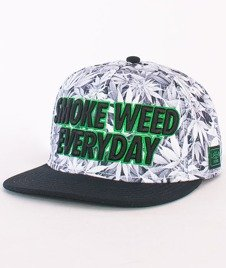 Cayler & Sons-EveryDay Cap White Kush/Black/Green