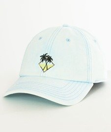 Cayler & Sons-WL Vibin' Curved Snapback Light Blue/Black