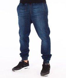 Diamante-Classic Jogger Jeans RM Spodnie Dark Blue Wyprane