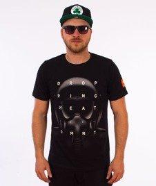 Diamante-Dropping Heat T-Shirt Czarny