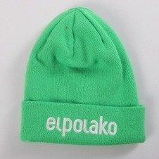 El Polako-BASIC Czapka  zimowa wywijana LIME