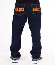 El Polako-Classic Spodnie Baggy Jeans Dark Blue