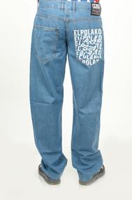 El Polako NOISE Spodnie Baggy Jeans Jasne Spranie