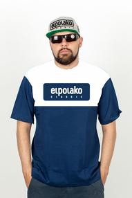 El Polako PLATE T-Shirt Granatowy