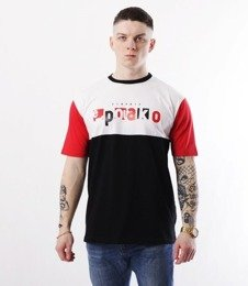 El Polako-Square Cut T-Shirt Czarno/Czerwony