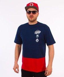 El Polako-Style T-Shirt Granatowy/Czerwony