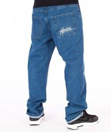 El Polako-Written Slim Jeans Spodnie Light Blue