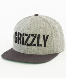 Grizzly-Stamp Snapback Heather Grey