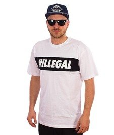 Illegal-#Illegal Line T-Shirt Biały