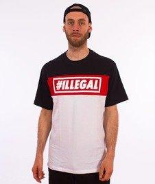 Illegal-Illegal Red T-Shirt Czarny/Czerwony/Biały