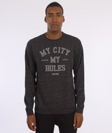 Iriedaily-Chamisso City Crew Sweter Black Anthra