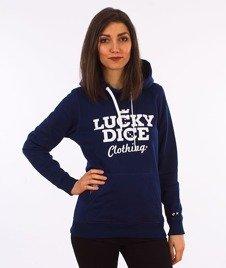 Lucky Dice-Classic Hoodie RND Girl Bluza Kaptur Damska Granatowa