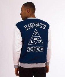 Lucky Dice-Triangle Crewneck Bluza Granatowa