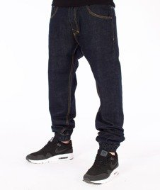 Mass-Base Denim Jogger Pants Spodnie Rinse Blue
