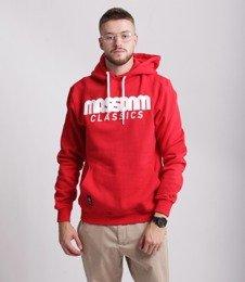 Mass CLASSICS Bluza z Kapturem Czerwony
