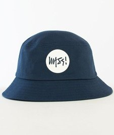 Mass-Signature Bucket Hat Granatowy