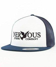 Nervous-Classic Snapback Tirówka Biała/Granatowa