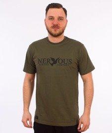 Nervous-Classic T-Shirt Oliwkowy