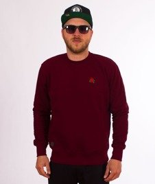 Nervous-Crewneck Sp18 Rose Bluza Maroon