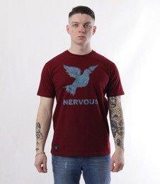 Nervous-LCD SS19 T-shirt Bordowy