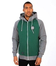 Nervous-Shield Bluza Kaptur Zip Green/Grey