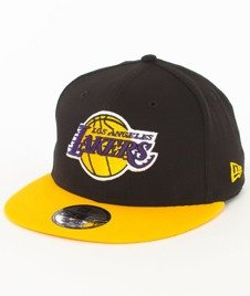 New Era-Los Angeles Lakers NBA Black Base 9Fifty Snapback Czapka Black/Yellow
