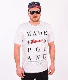 Patriotic-Made In T-shirt Biały
