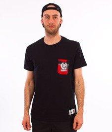 Patriotic-P Laur Mini Pocket T-shirt Czarny/Red Camo