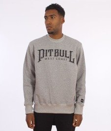 Pit Bull West Coast-Basic Fast Sweatshirt Crewneck Grey Melange