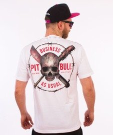 Pit Bull West Coast-Business As Usual T-Shirt Biały