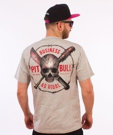 Pit Bull West Coast-Business As Usual T-Shirt Szary