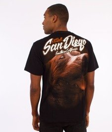 Pit Bull West Coast-San Diego Dog T-Shirt Czarny