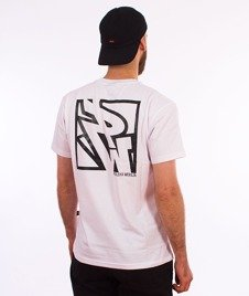 Polska Wersja-PW Tył Kwadrat T-shirt Biały