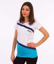 Prosto-Dripstone T-shirt Damski Biały