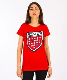 Prosto-Front T-shirt Damski Red