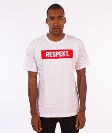 Respekt-Frame T-Shirt Biały