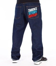SmokeStory-Colors Regular Jeans Spodnie Dark Blue