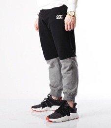 SmokeStory-Double SSG Spodnie Jogger Czarne