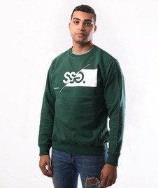 SmokeStory-New Cut Logo Crewneck Bluza Zielony