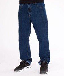SmokeStory- SSG Haft Classic Regular Jeans Spodnie Medium Blue