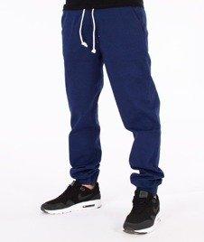 SmokeStory-Tkanina Regular Jogger Spodnie Niebieskie