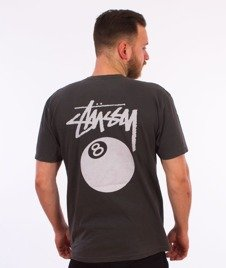 Stussy-8 Ball Pig. Dyed T-Shirt Black