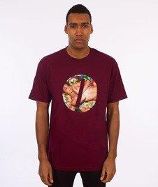 Visual-Censored T-Shirt Burgundy
